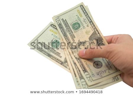 Pile of cash on white background Stock photo © bluering