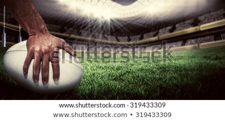 ballon · de · rugby · prêt · placement · sport · football · cuir - photo stock © wavebreak_media