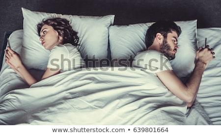 Unatkozik pár férj feleség hálószoba személyes Stock fotó © stevanovicigor