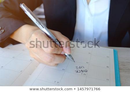 Businessman and secretary checking days schedule Stock photo © Kzenon