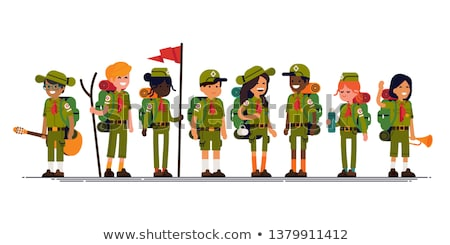 A blonde boy wearing a scout outfit  Stock photo © bluering