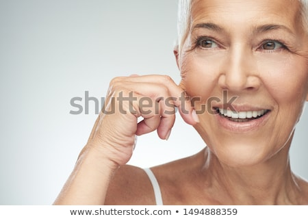 Woman pinching skin Stock photo © IS2