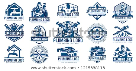 home plumbing - house and water drop Stock photo © djdarkflower