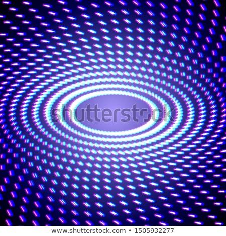 Bright shiny neon lines background with short strokes circles stock photo © SwillSkill