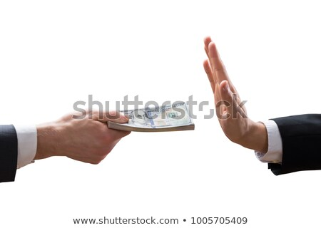 Businessperson Taking Bribe From Partner Stock photo © AndreyPopov