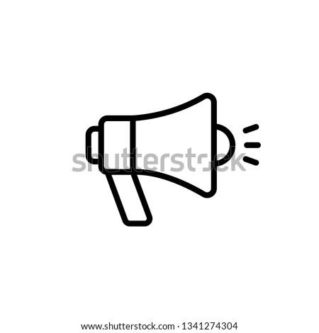 Boynuz ikon vektör uzun gölge web Stok fotoğraf © smoki