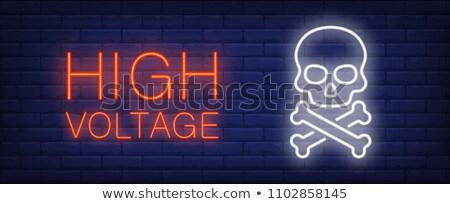 Neon śmierci promocji świetle sztuki podpisania Zdjęcia stock © Anna_leni