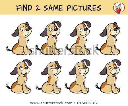 find two identical dog pictures coloring book stock photo © izakowski