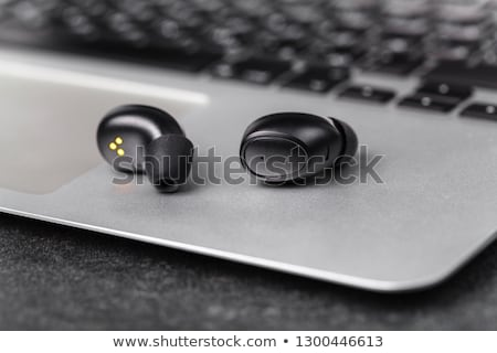 Muziekspeler draadloze klein mp3-speler Blauw Stockfoto © magraphics
