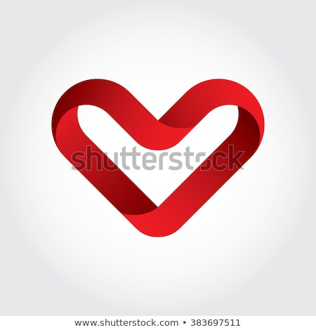 3d heart letter v logo vector design stock photo © blaskorizov