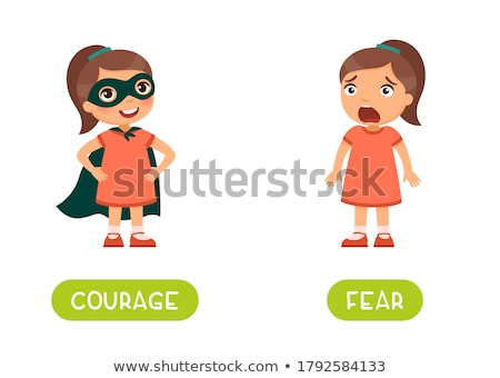 English vocabulary word of fearful Stock photo © bluering