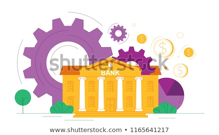 Bank operations - flat design style colorful illustration Stock photo © Decorwithme