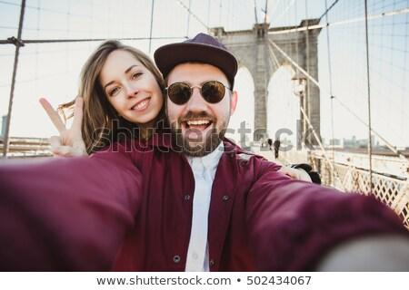 Turistas cidade mulher homem Foto stock © Minervastock