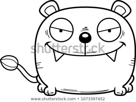 Cartoon Sly Lioness Cub Stock photo © cthoman