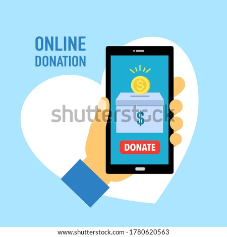Person Donating Money On Cellphone Stock photo © AndreyPopov
