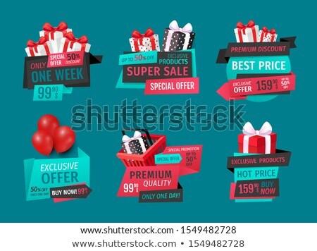 Mejor ofrecer prima productos precios Foto stock © robuart