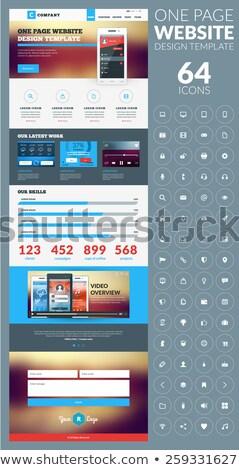 Tag beheer landing pagina sjabloon tool Stockfoto © RAStudio