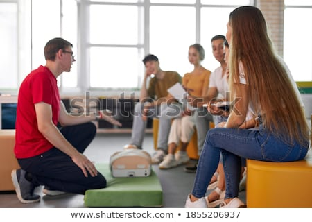 Male Instructor Showing Massage Technique Stock photo © AndreyPopov