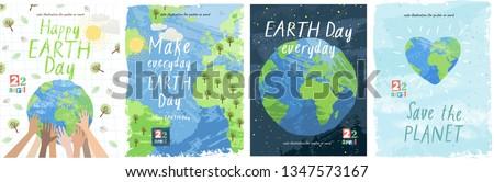 Ninos día de la tierra logo ilustración agua sonrisa Foto stock © colematt