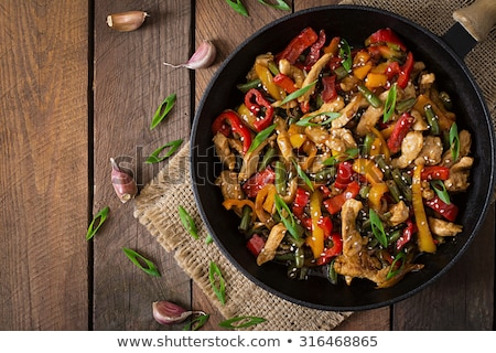 chicken stir fry with vegetables stock photo © melnyk