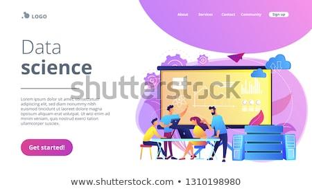 команда · веб · страница · презентация · вектора - Сток-фото © rastudio