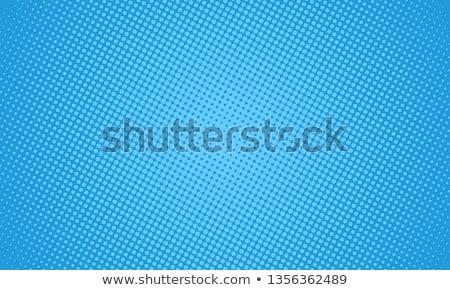 Azul meio-tom padrão projeto abstrato retro Foto stock © SArts