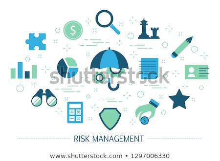 Risk management concept vector illustration. Stock photo © RAStudio