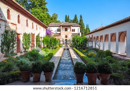 Generalife gardens, Granada, Spain Stock photo © borisb17