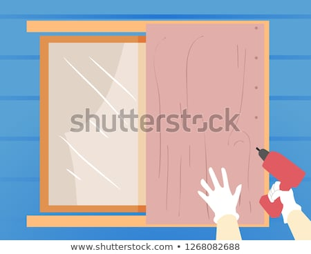 Hurricane Preparedness Cover Window Illustration Stock photo © lenm