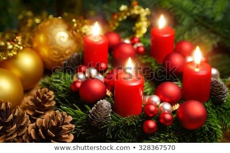 Studio shot of a nice advent wreath Stock photo © grafvision