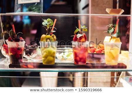Glasses of cocktails on bar background in San Miguel market Stock photo © ruslanshramko