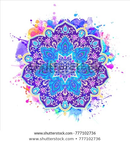 Mandala patterns on red background Stock photo © bluering