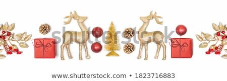 Noel altın star hediye beyaz arka plan Stok fotoğraf © Melnyk