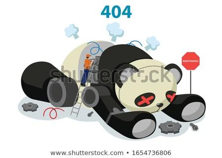 Broken Panda Robot Showing 404 Website Error Concept Illustratio Stock photo © artisticco