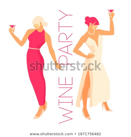 Happy Women Dancing, Hen-Party Isolated Characters Stock photo © robuart