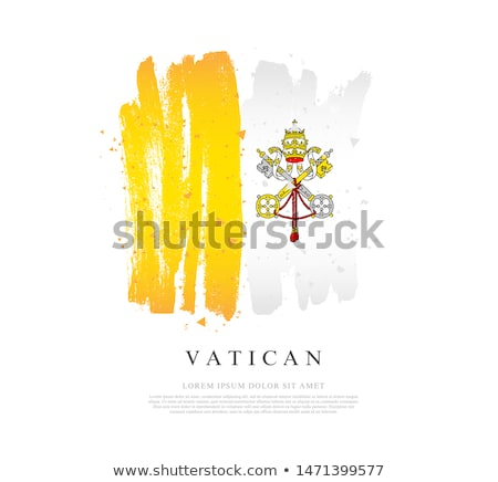 Vatikan bayrak el beyaz imzalamak Avrupa Stok fotoğraf © butenkow