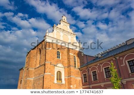 Küçük kilise Polonya görmek tuğla mimari Stok fotoğraf © boggy