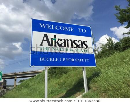 Arkansas wegteken hoog grafische wolk Stockfoto © kbuntu