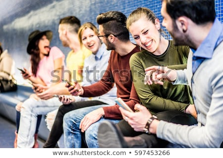 group of young friends on subway station stock photo © paha_l
