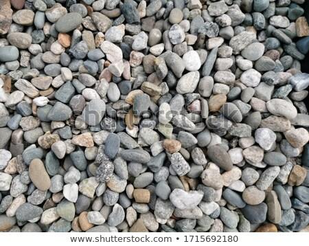 Cegieł kamienie plaży w górę kawałek Zdjęcia stock © brianguest