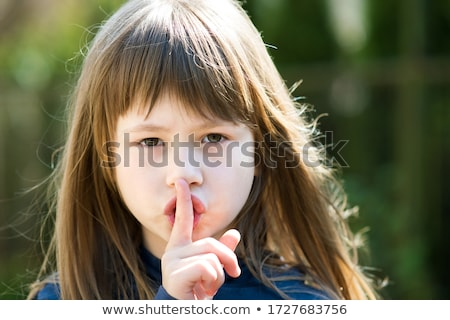 child finger to lips Stock photo © godfer