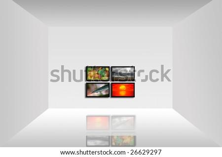 Dört plazma teknoloji video sıvı bakmak Stok fotoğraf © ozaiachin