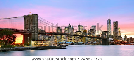 Bridge in Dusk Cloudscape Stock photo © stevanovicigor