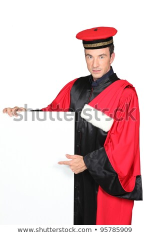 Main in fancy dress holding blank message board Stock photo © photography33
