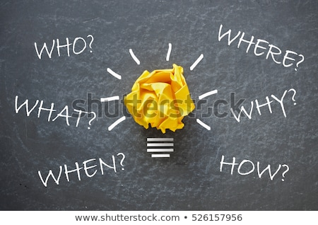 Who, What, When, Where, Why, and How on blackboard Stock photo © experimental