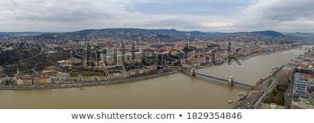 panoramic shot of the Chain Bridge. Stock photo © lithian