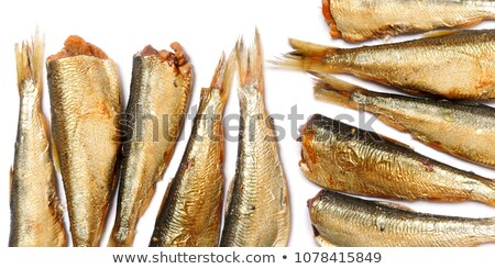 Abstract background of smoked golden fishs. Stock photo © boroda