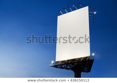 Blank White Vertical Billboard on a White Background Stock photo © maxpro