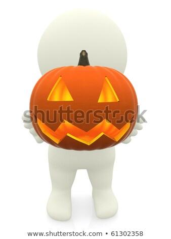 3次元の男 カボチャ 白 笑顔 男 ストックフォト © digitalgenetics