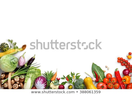 different vegetables isolated on white stock photo © ozaiachin